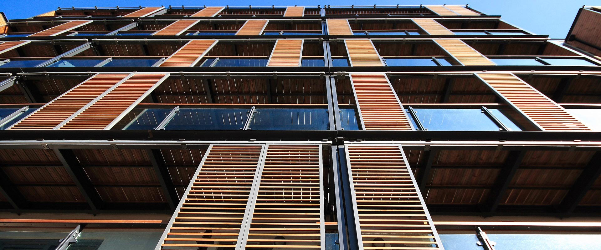 Contrasol sliding shutters for Sliding timber screens